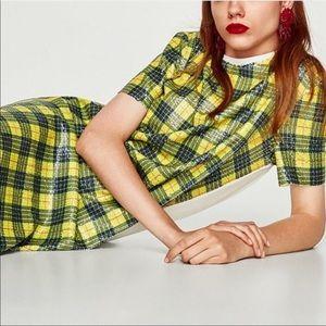 Zara Trafaluc plaid dress